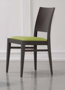 330, Chaise élégante avec un siège rembourré, pour le petit déjeuner chambre