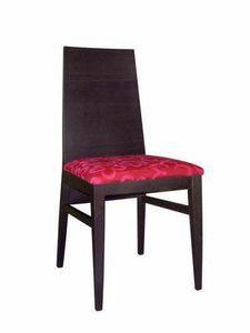 Ambra, Chaise moderne avec plein dossier, pour une utilisation du contrat