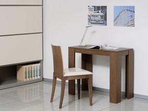 Complementi Sedia 04, Chaise avec assise et dossier rembourrés en bois massif