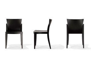 E-Chair, Chaise empilable appropriée pour les des cafés et des bars