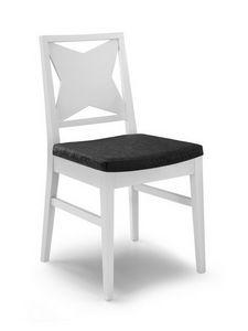 Gaia F, Chaise moderne, avec dossier X, pour les salons