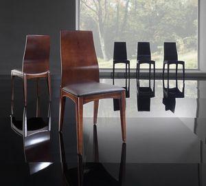 KARINA chaise 8526S, Chaise en bois et polyuréthane cendres, pour le salon