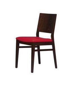 M01, Chaise en hêtre avec siège rembourré, pour le contrat et l'usage domestique