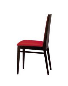M12, Chaise rembourrée en hêtre, pour usage résidentiel et contrat