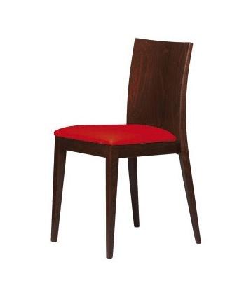 M16, Chaise en bois, assise rembourrée, pour bars et restaurants