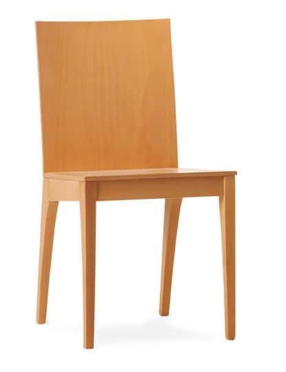 MONIA, Chaise entièrement réalisée en contreplaqué