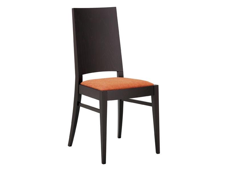 SE 121, Chaise en bois avec assise et dossier complet