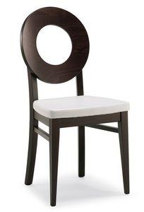 SE 47 / U, Chaise en bois, recouvert de faux cuir, style moderne, pour les cantines
