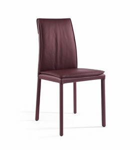 Agorà, Chaise avec coussin rembourré, finition personnalisable