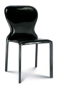 Amanda, Chaise entièrement rembourrée en cuir