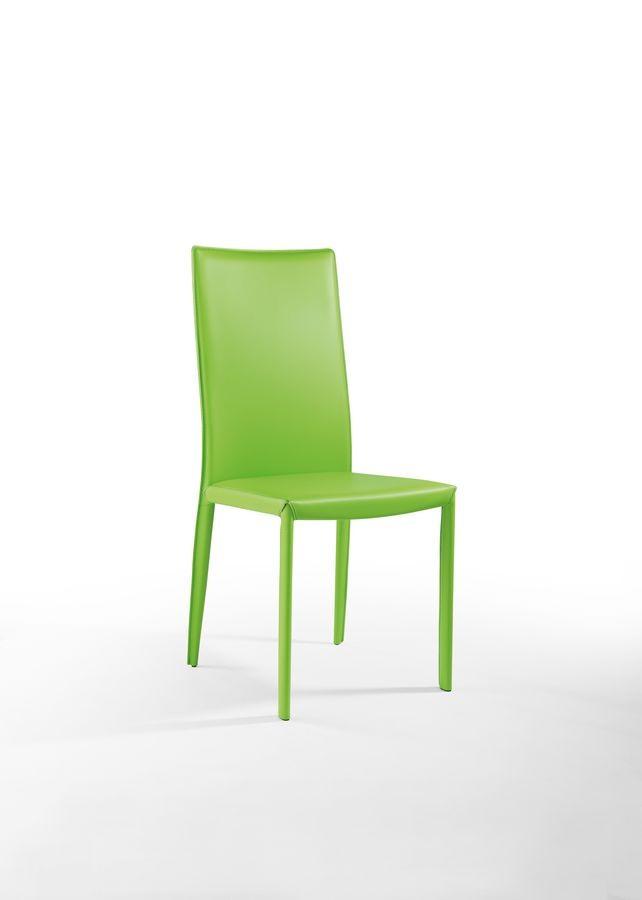 Anemone  haut, Chaise en cuir matelassé, pour le restaurant