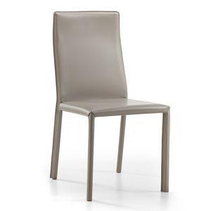 Ara, Chaise entièrement recouverte de cuir collé