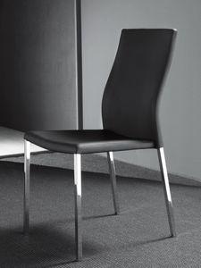Art. 213 Hellen, Chaise en métal, recouvert de faux cuir de haute qualité