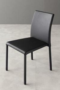 Art. 216 Cloe, Chaise entièrement tapissée en faux cuir