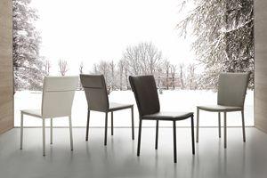 Art. 234 Vogue, Chaise rembourrée pour salle à manger, recouverte de faux cuir