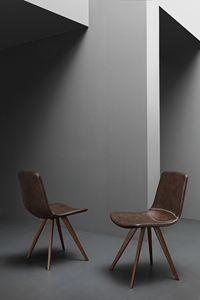 Art. 244 Baseball, Chaise rembourrée en faux cuir, en style vintage