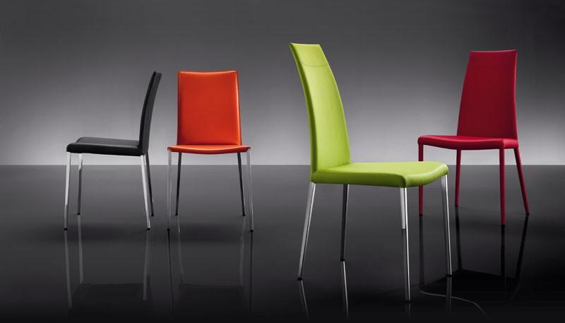 ART. 252 MISS, Cuir rembourrés chaises, style moderne, pour Hôtel