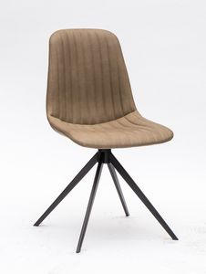 Art. 255 Cinquecento, Chaise rembourr�e en similicuir, avec surpiq�re en verit