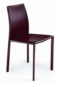 ATHENA 397, Chaise entièrement recouvert de cuir, pour les restaurants