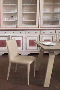 BERNA SE609, Chaise en cuir adapté pour les bars et les cuisines