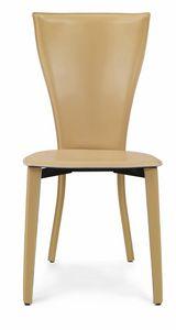 Carlotta chaise 10.0035, Chaise entièrement recouverte de cuir