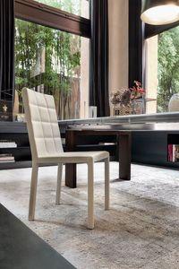 COLETTE, Métal et chaise en bois, rembourrés avec du caoutchouc