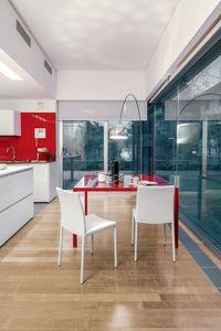 DALILA, Salle à manger chaise en métal et cuir, simple, salon