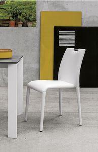 FRIBURGO SE611, Chaise entièrement recouvert de soft-touch, style moderne
