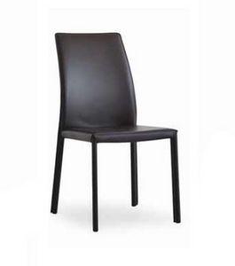 Giselle-B, Chaise en cuir pour salle à manger