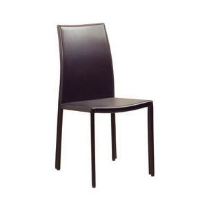 Jespica, Chaise classique recouvert de cuir pour salle à manger