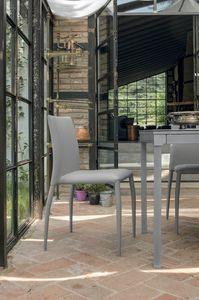 LILY SE610, Chaise avec revêtement en cuir idéal pour la cuisine et le bar