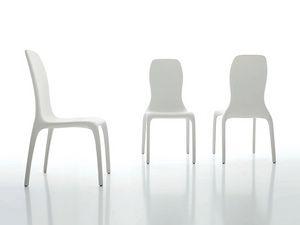 LISETTA, Chaise rembourrée, avec un nouveau design, des lignes douces et visibles