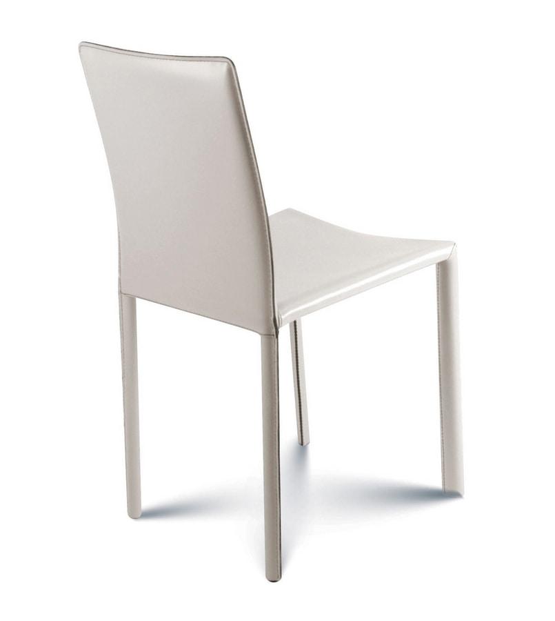 Giada low, Chaise entièrement recouverte de cuir
