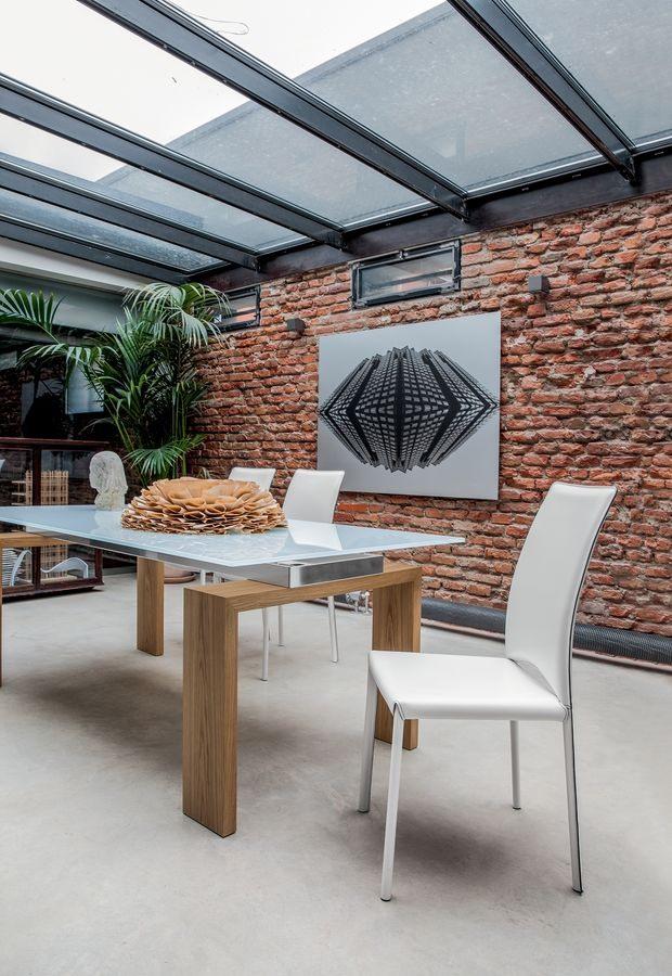MADELEINE, Cuir chaise moderne, pour la chambre et restaurants réunion