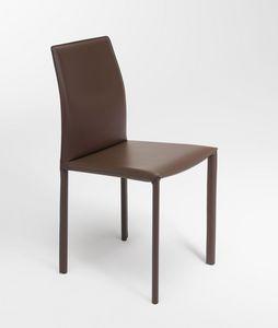 Margaret, Chaise moderne, rembourrés en cuir simili, disponibles en différentes couleurs