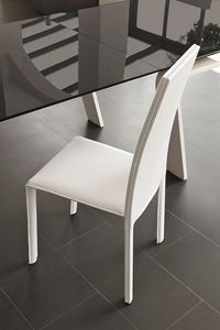 MIAMI SE136, Chaise en cuir idéal pour les restaurants