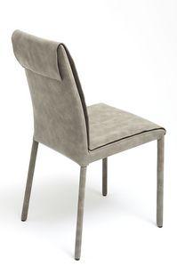 Nancy, chaise recouverte de nubuck, disponible en différentes couleurs et deux hauteurs