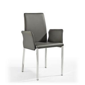 Ninfea Q, Chaise moderne en cuir et caoutchouc, pour le mobilier naval