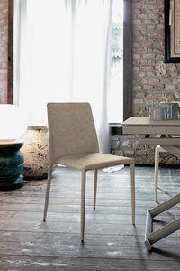 NIZZA SE603, Chaise moderne recouvert de cuir pour les cuisines et bars