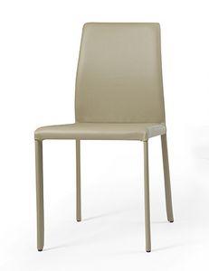 Nunes, Chaise Eco-cuir, pour salle à manger