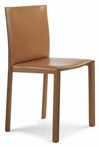 Pasqualina chaise 10.0080, Chaise entièrement recouverte de cuir
