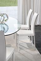 PLAZA, Chaise moderne en métal et bois pour la salle à manger