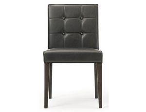 Rina-S, Chaise en cuir, avec dossier disponible avec des boutons