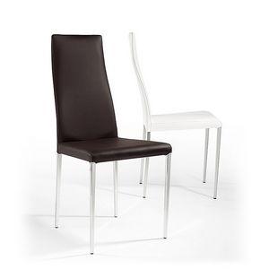 Rio, Chaise en cuir, les jambes coniques, pour les bars et restaurants