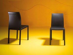 Rose low, Chaise avec tube d'acier carré, pour la salle d'attente