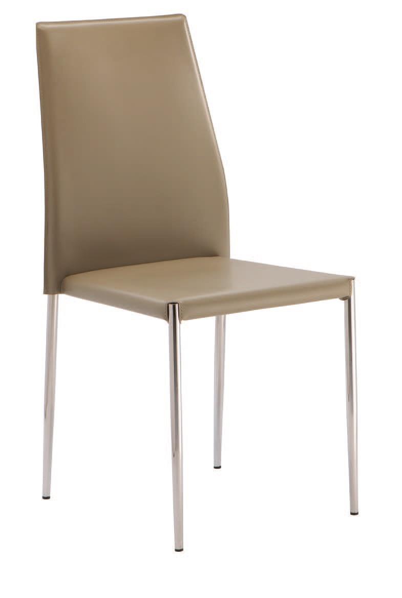 SE 620, Chaise rembourrée en simili cuir, empilable, pour les hôtels