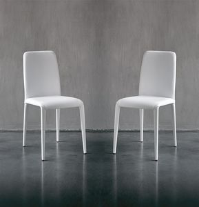 SOFT, Chaise en cuir à manger moderne, des couleurs différentes, pour les hôtels