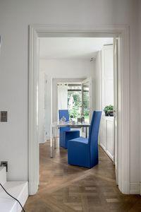 SORBONA, Salle à manger chaise entièrement recouvert de cuir, pour hôtel