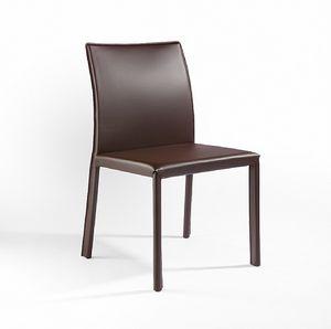 XL, Chaise en métal, revêtement en cuir, pour les bars et les cuisines