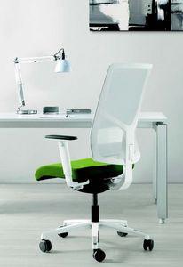 11522 Sax, Chaise de bureau élégante avec base blanche